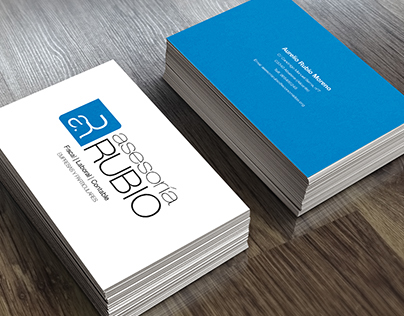 Business cards redesign. Asesoría Rubio Moreno c.b.