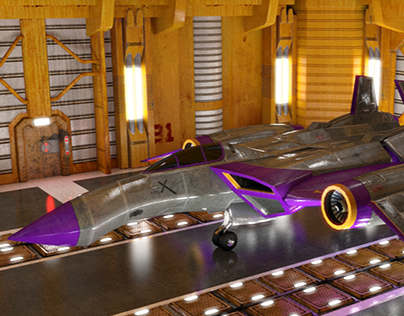 3D Work - Futuristic Vehicle
