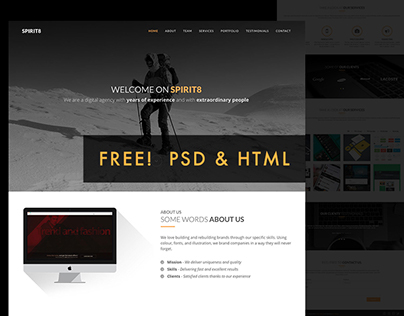 Free! Spirit8 Agency HTML Template