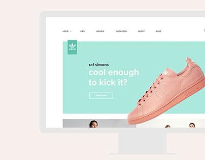 Web Design for Adidas Shoes