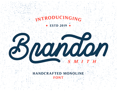 Brandon Smith - Monoline Font