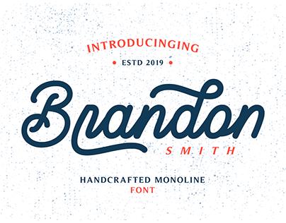 Brandon Smith - Monoline Font