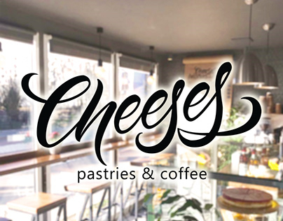 Lettering for Cheeses cafe