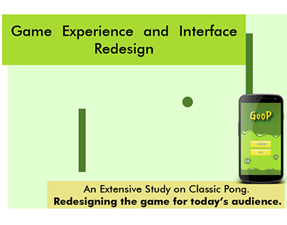 Game User Interface and Experience Redesign for Pong