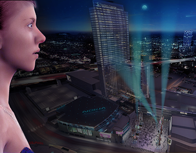 LA Live (all 3d building 3d models by Kenneth Massey)