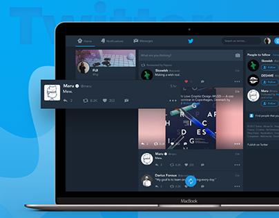 Twitter — Dark Mode for Web