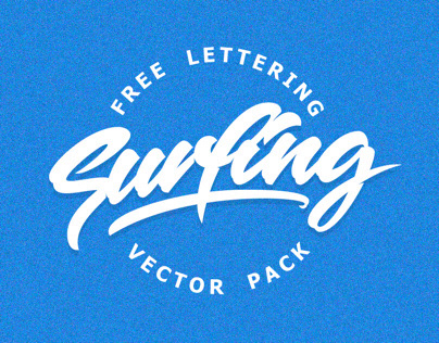 SURF PACK - free lettering surfing vector