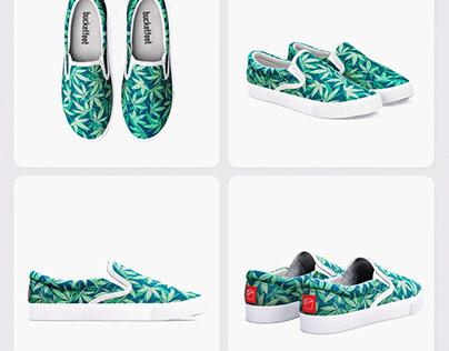 Cannabis / Hemp / 420 / Marijuana - Pattern Shoes
