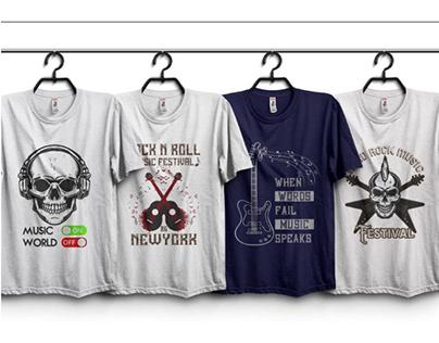 Music t-shirt design bundle.