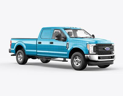 Ford F250 Pickup Truck - 5in1 Mockup Pack
