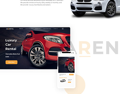 Car - Rental Landing Page Concept
