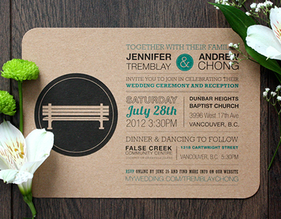 Postcard Wedding Invite