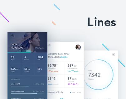 Lines activity tracker
