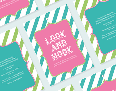Look and Hook - Degree Exhibition branding