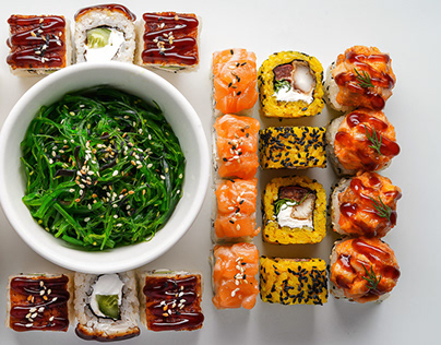 Sushi Geometry Photography