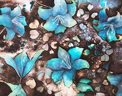 lily & eucalyptus leaves