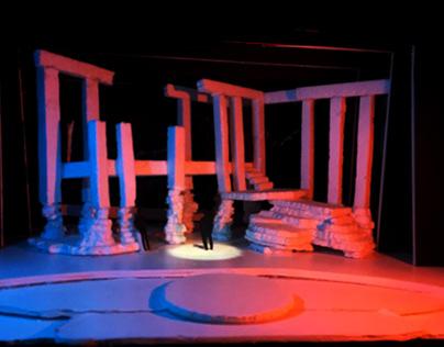 theatre maquette with foam