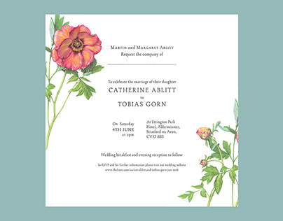 Cat & Toby's wedding design