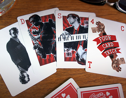 Georges Kaplan Presents... 4 Card Trick playing cards