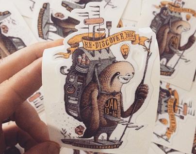 Re.Discover 2016  |  Sticker Design