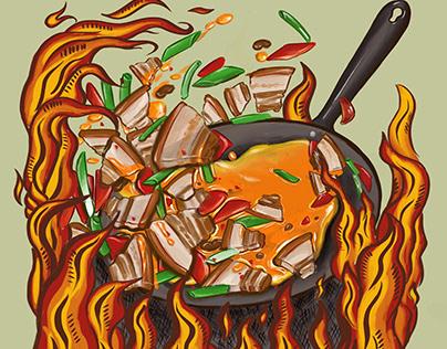 Twice-cooked Pork | Illustration