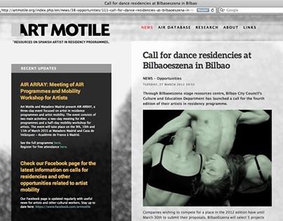 Art Motile - Website design
