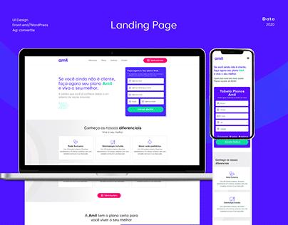 UI Design Landing Page Amil
