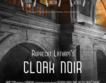 Cloak Noir - Novel Cover and Film Poster