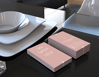Home stager business card