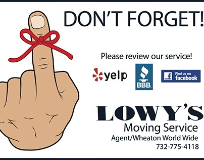 Lowy's Moving Service Postcards