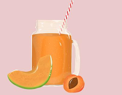 Apricot & Melon smoothie