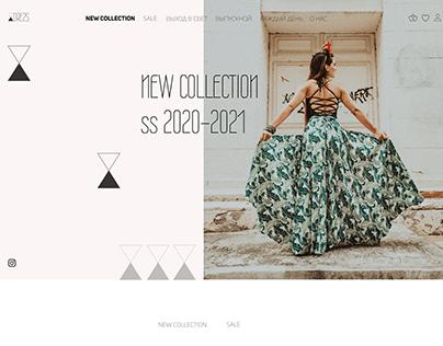 Сайт магазина платьев