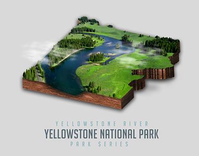 Park Series - Yellowstone River - Yellowstone NP
