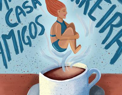 Coffee Jump Illustration