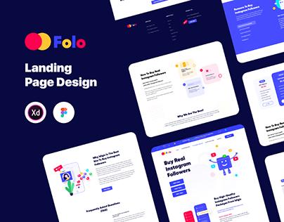 Folo Web Landing Page