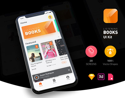 Listening Books UI Kit