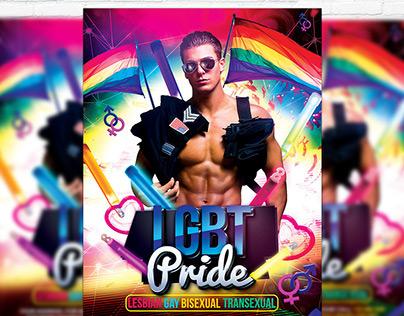 LGBT Pride - Premium Flyer Template + Facebook Cover