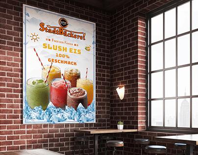 Cafe Drinks Poster Design
