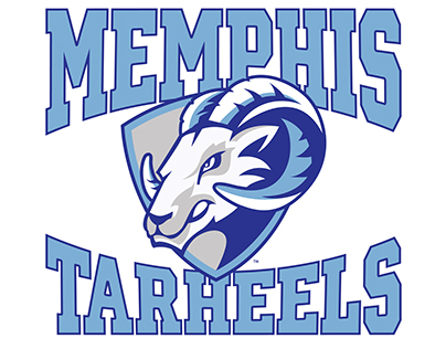 Memphis Tarheels AAU Youth Basketball Logo