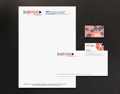 Gerpa : logotype et déclinaisons papeterie & powerpoint
