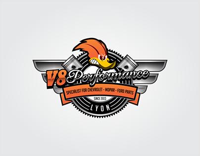 V8 PERFORMANCE LOGO DESIGN
