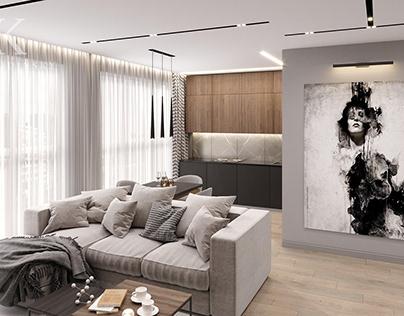 Дизайн гостиной, СПБ