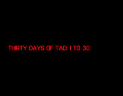 Thirty Days of Tao: 1 to 30