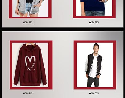 UI design for the fashion web