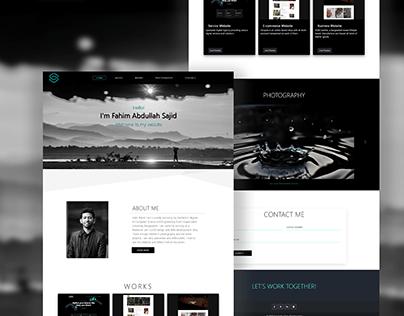 One Page Portfolio Web Design