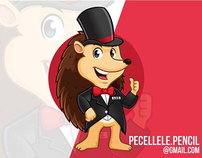 Abe The Hedgehog Mascot