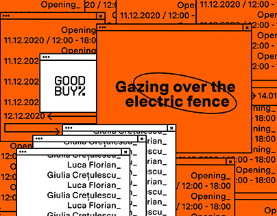 Gazing over the electric fence | Poster design