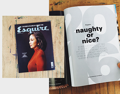 Naughty/Nice Illustrations for Esquire Dec Issue 2016