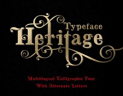 Heritage calligraphic typeface - free font