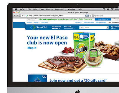 Sam's Club: Grand Opening Splash Pages; when at VIA